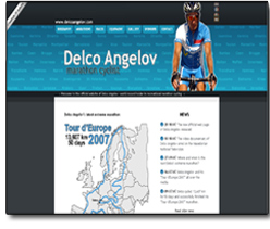 New website of Delco Angelov
